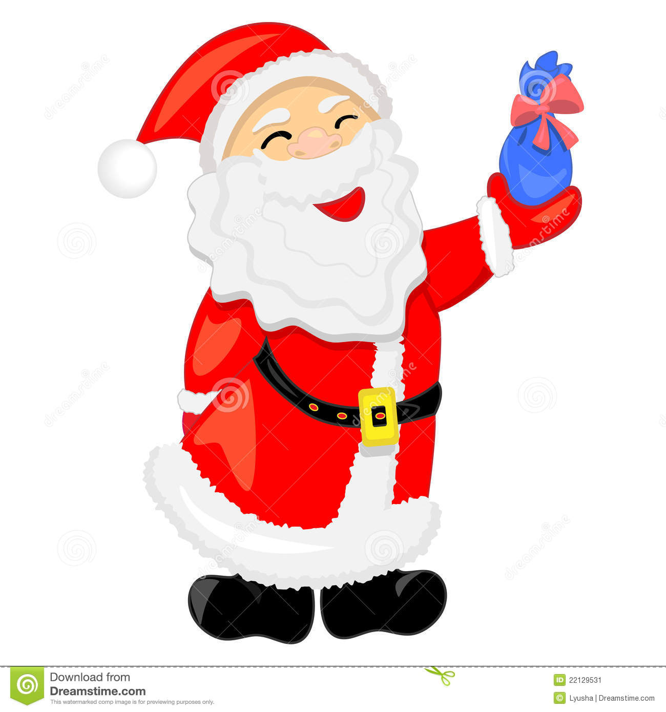 Santa Claus With Gift. Illustration Stock Image - Image: 22129531