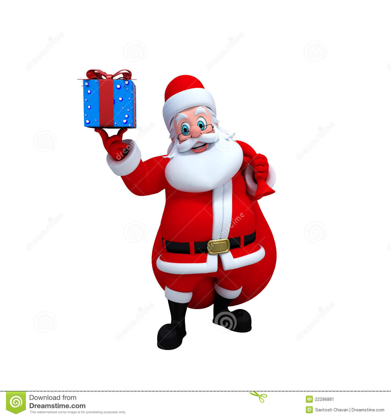 Stock image santa claus with gifts