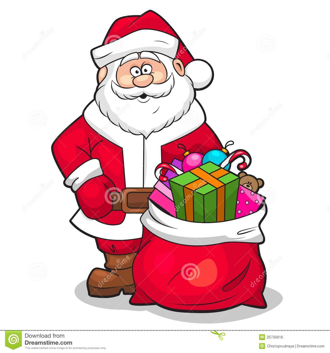 Clipart Santa With Gifts on The Mitten Sequencing Activity