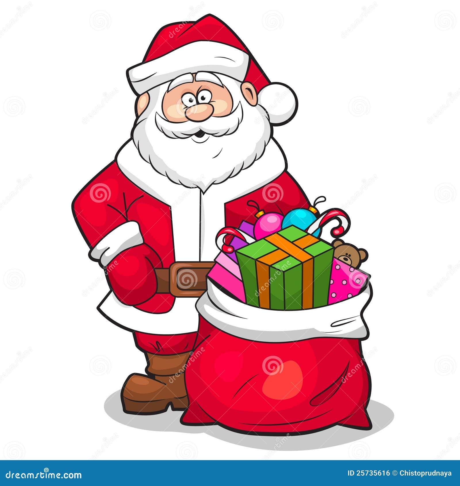 santa claus with gifts - Santa Claus Gifts