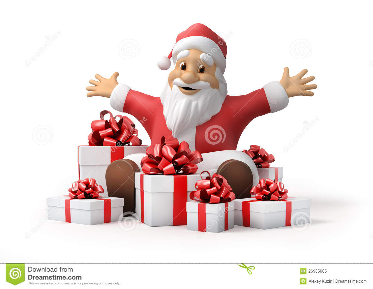 Santa Claus With Gifts Royalty Free Stock Photo Image