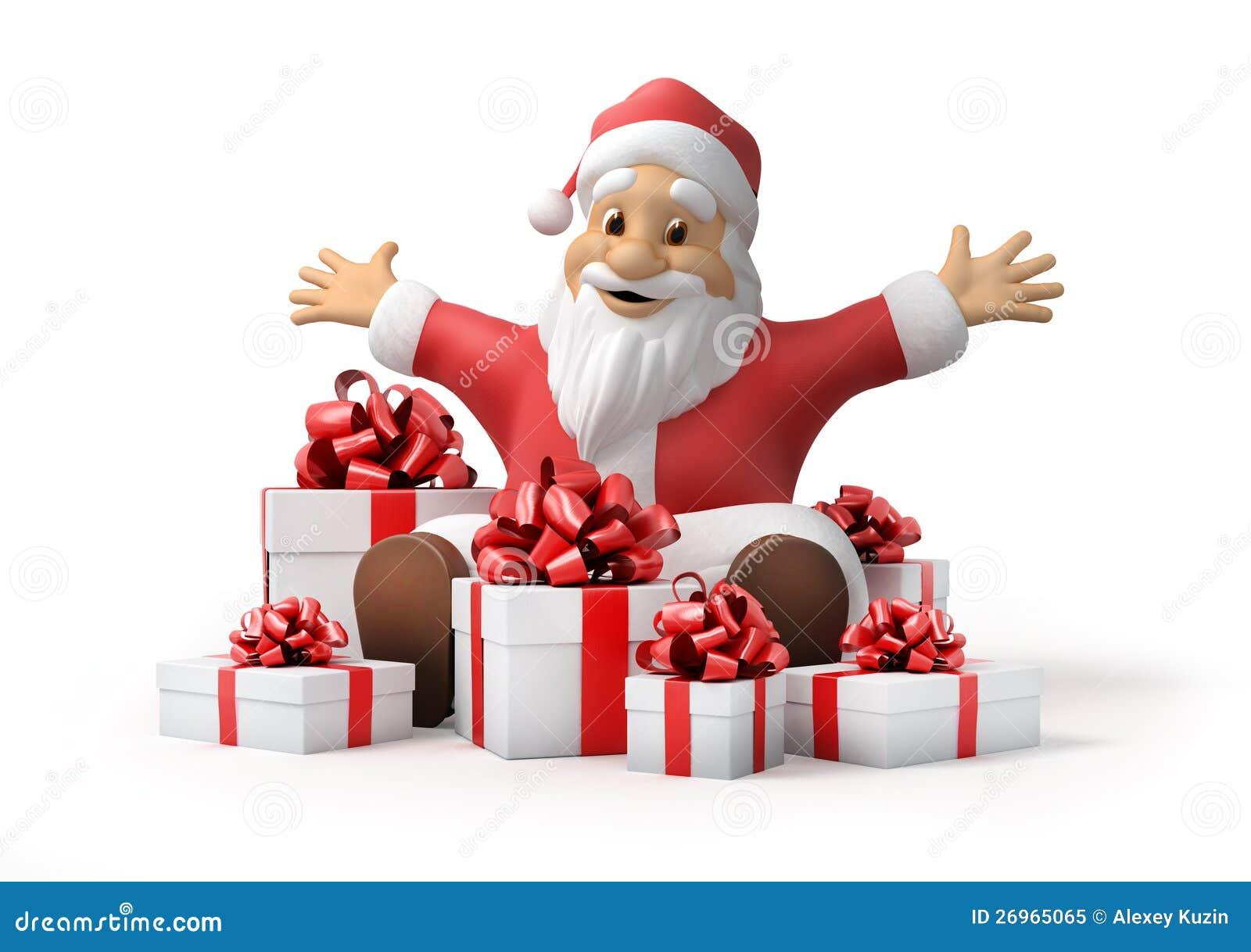 santa claus with gifts - Santa Santa Claus
