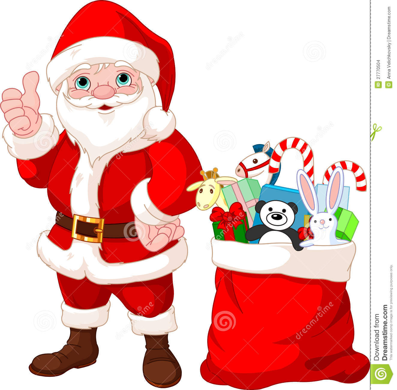 Santa claus and gifts stock images image