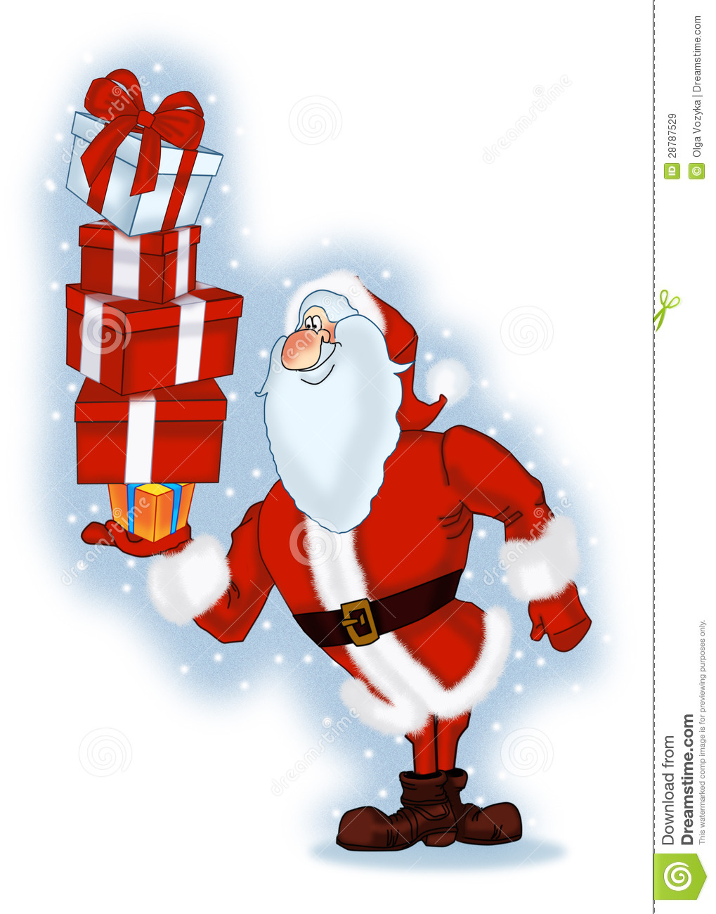 Santa claus with gifts stock illustration of