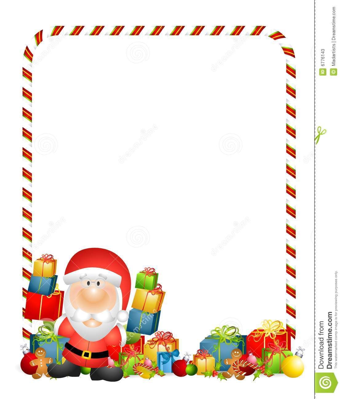 Santa Claus Gifts Border Stock Illustration Illustration Of Santa