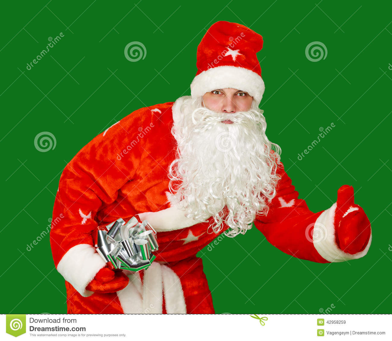 Santa claus with gifts stock photo image