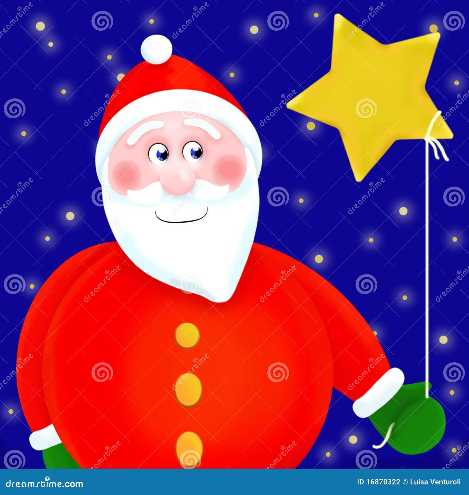 Santa claus gives stars stock illustration image of fairy