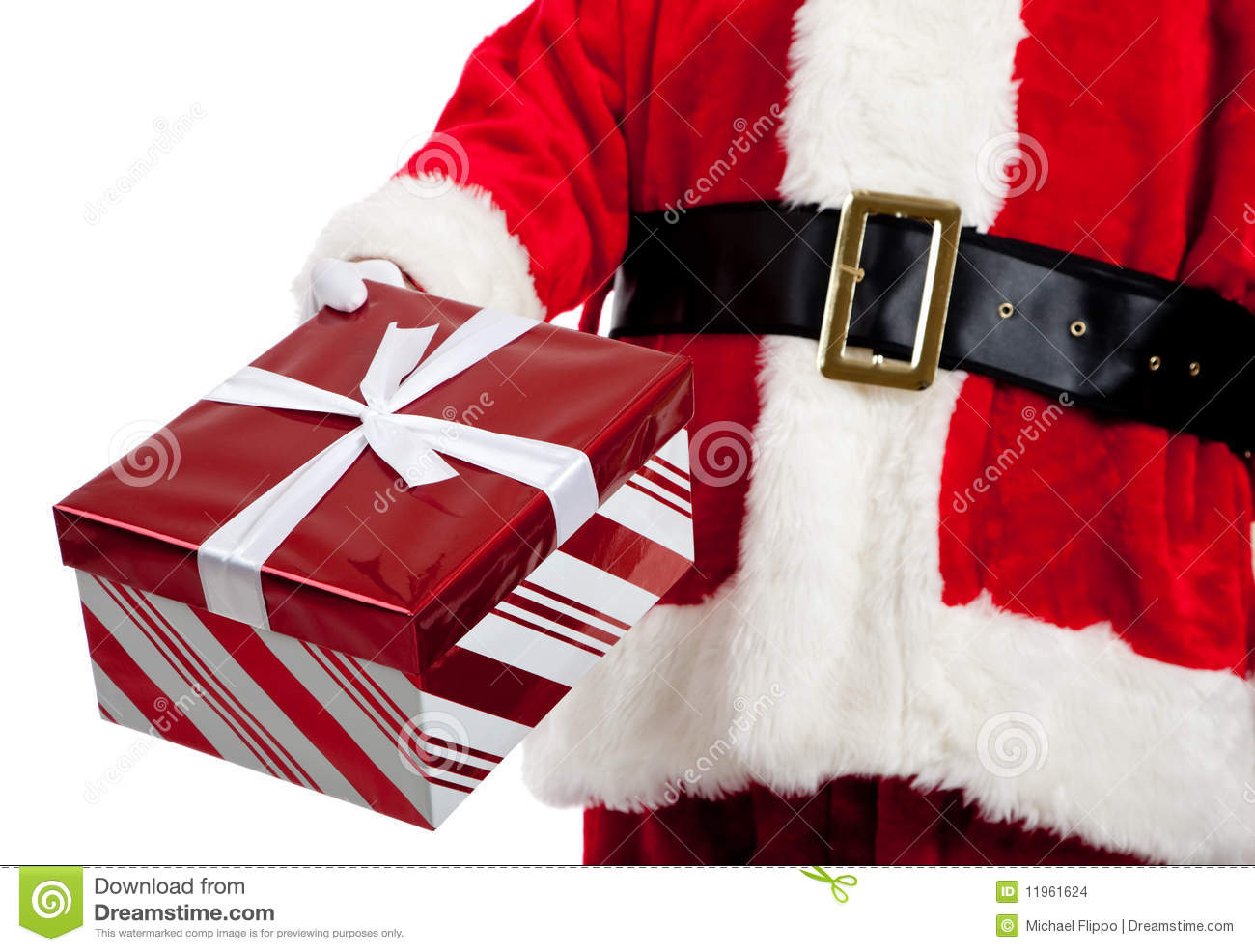 Santa Claus Giving Christmas Presents Stock Photo - Image ...