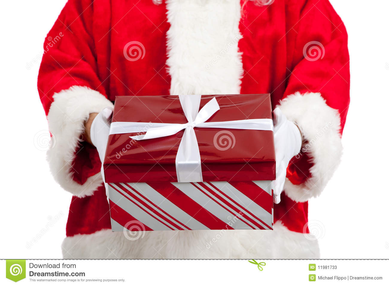 Santa Claus Giving Christmas Presents Stock Image - Image ...