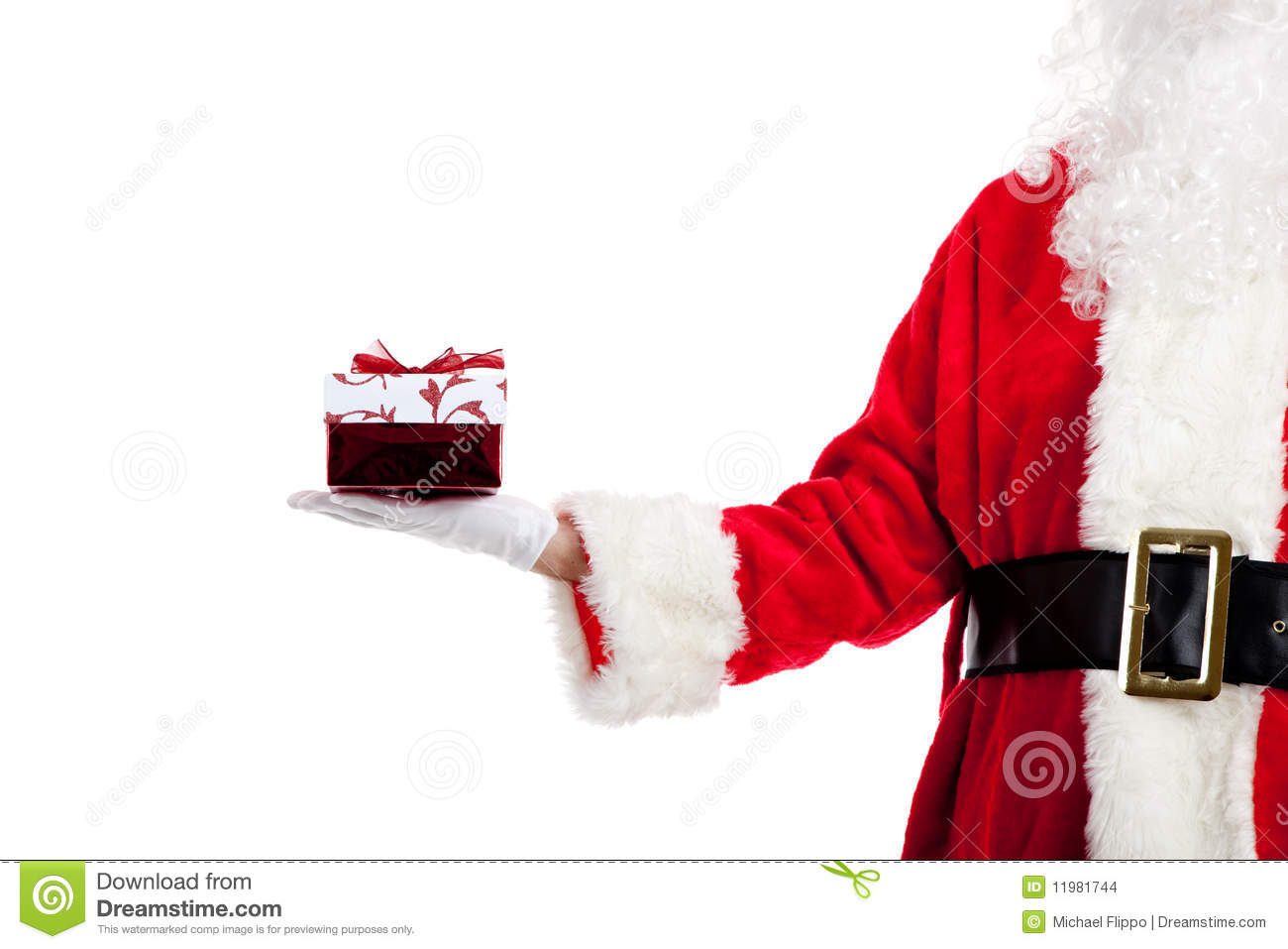 Santa Claus Giving Christmas Presents Stock Images - Image ...