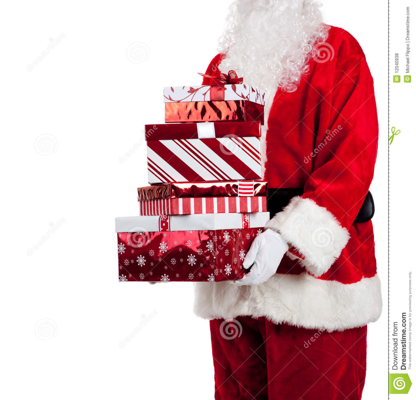 Santa Claus Giving Christmas Presents Royalty Free Stock ...