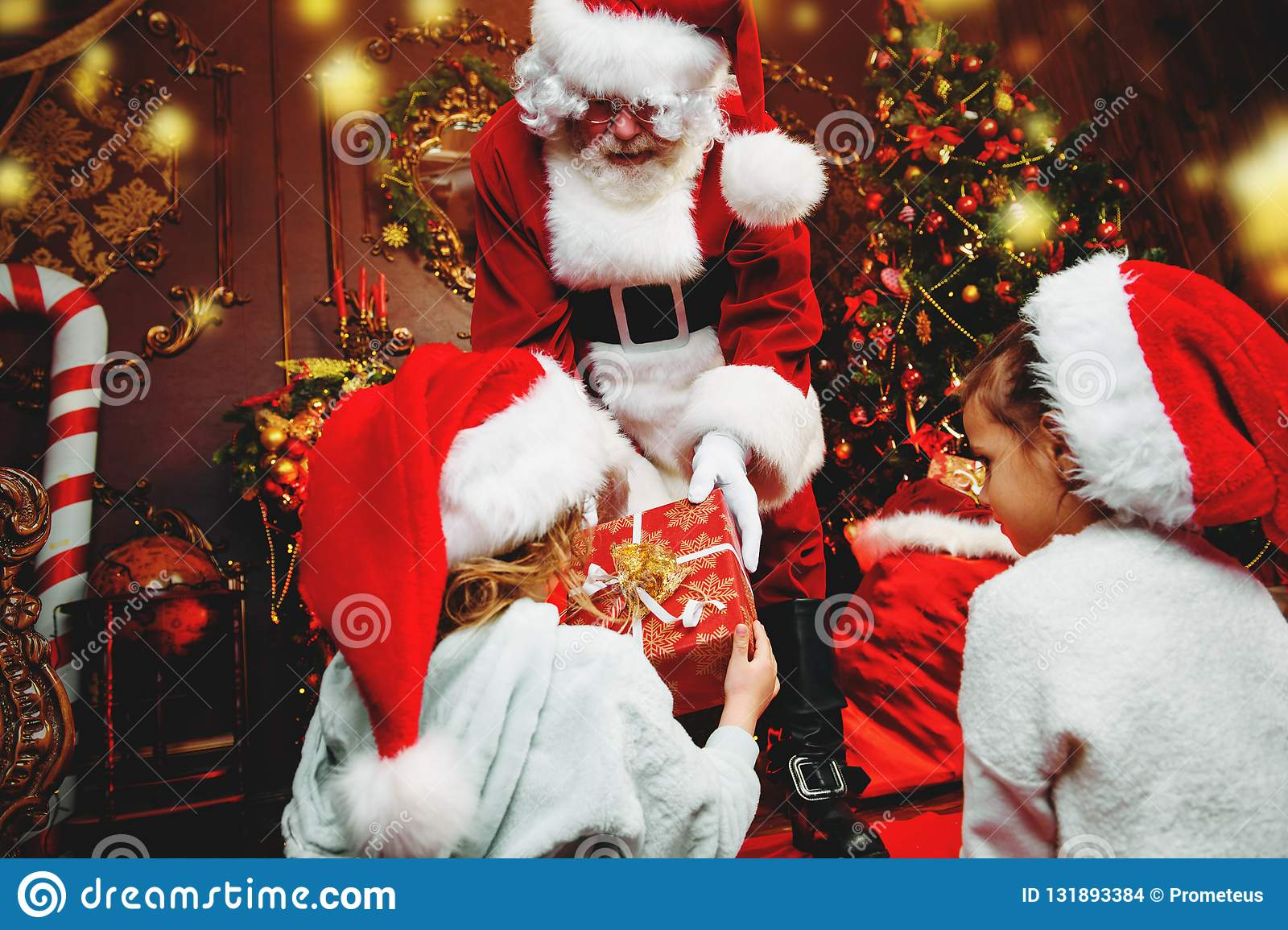 Giving presents to children