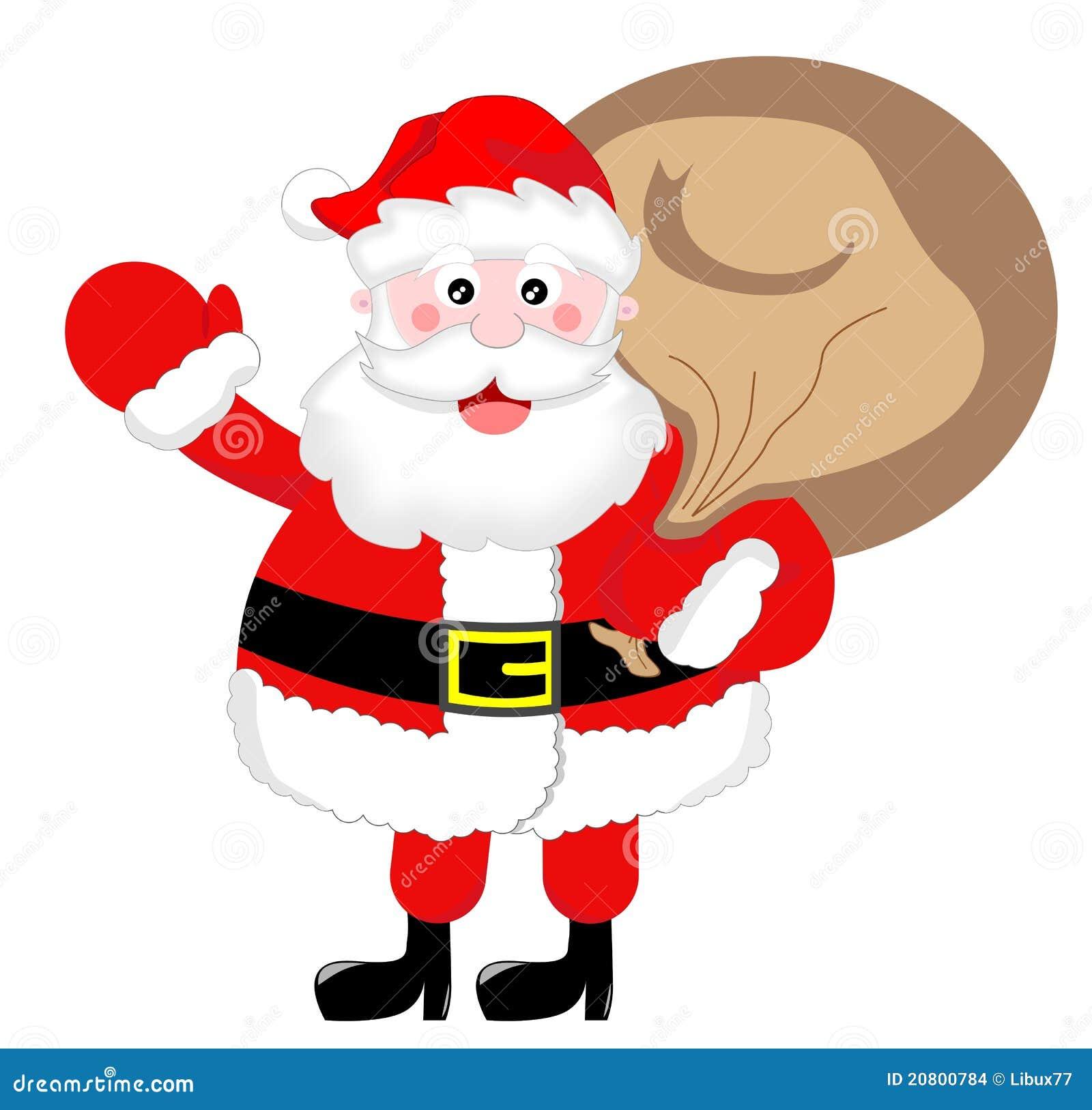 Santa claus greeting with sack stock illustration illustration of santa claus greeting with sack m4hsunfo