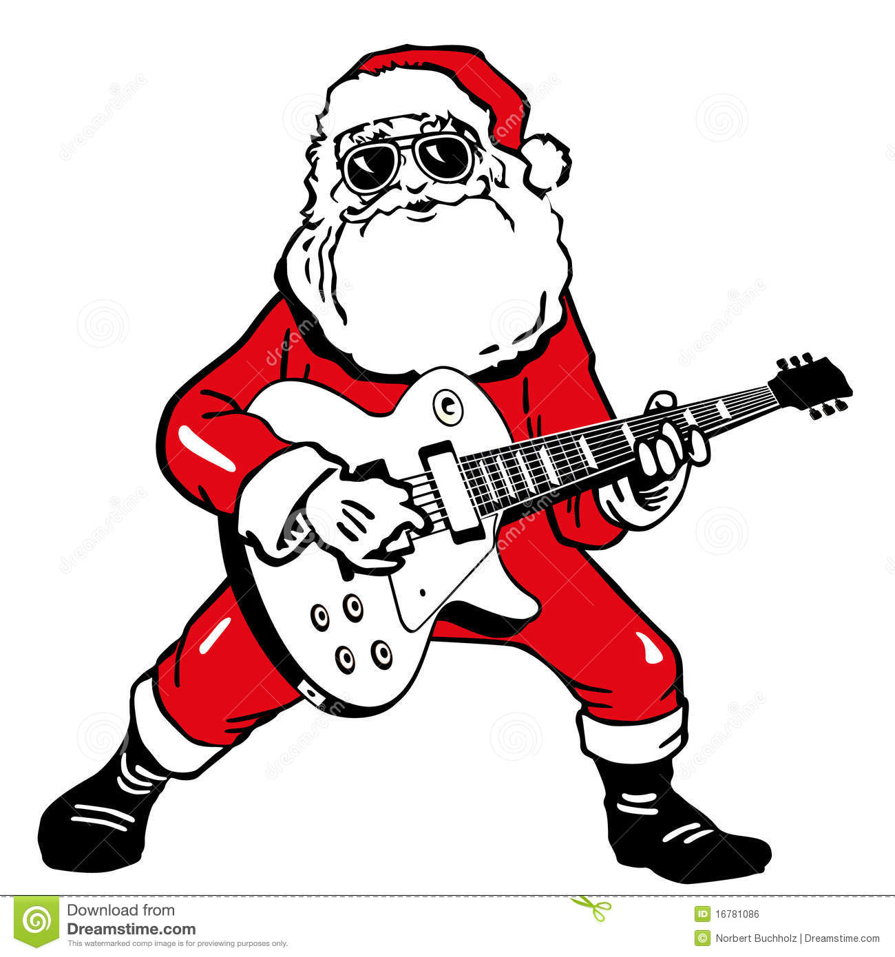 Santa Claus With Guitar Royalty Free Stock Image Image