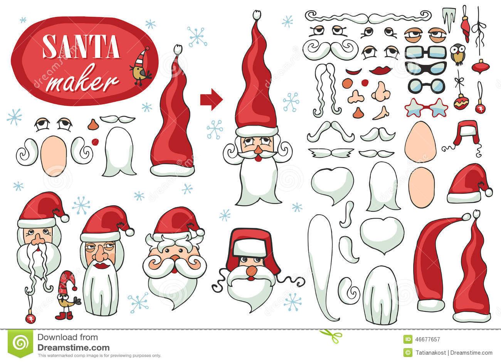 Santa Claus hace frente al fabricante Sistema de imagen del constructor