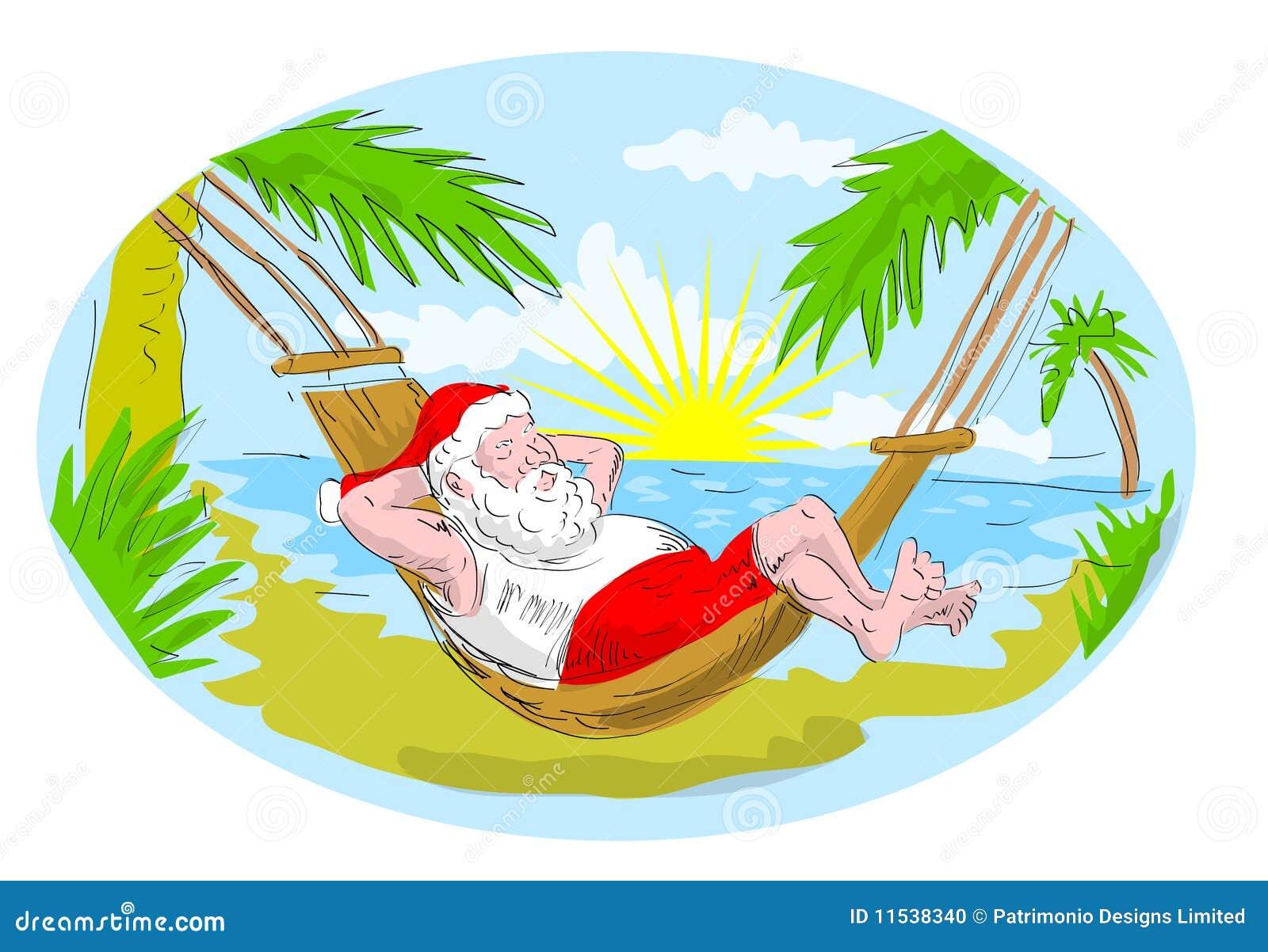 free clipart santa on the beach - photo #34
