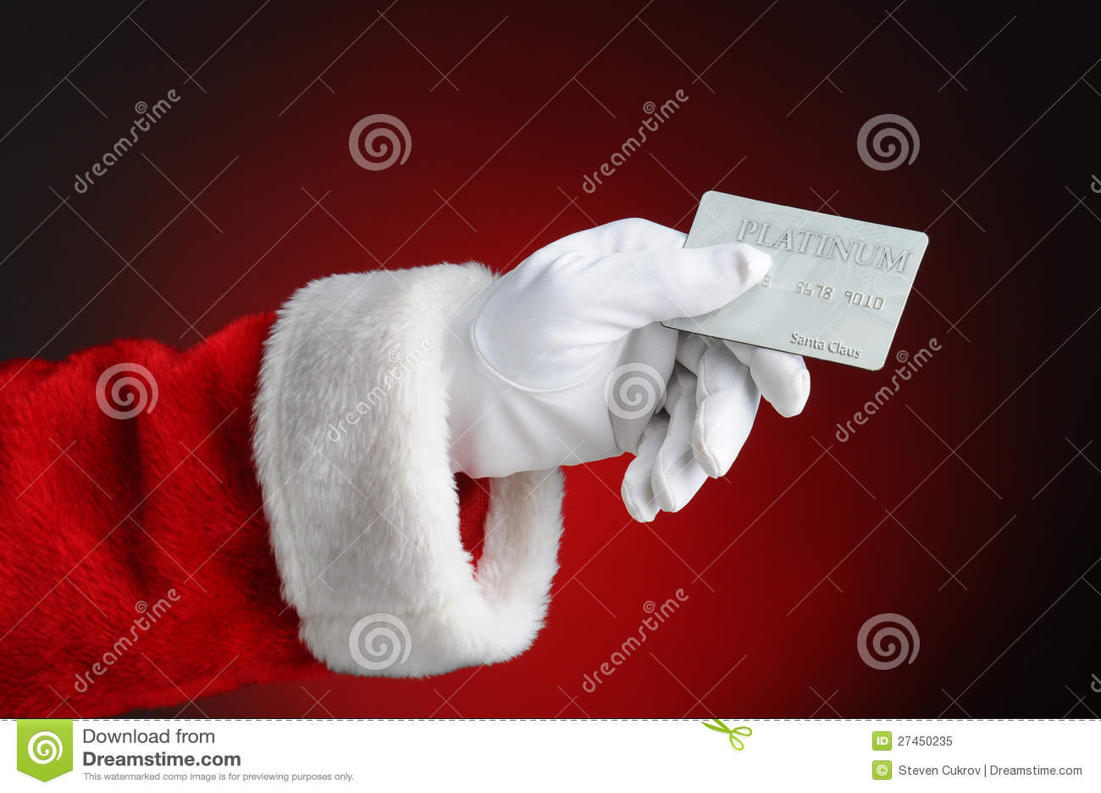 Santa Hand & Paint Roller Stock Image - Image: 3466581