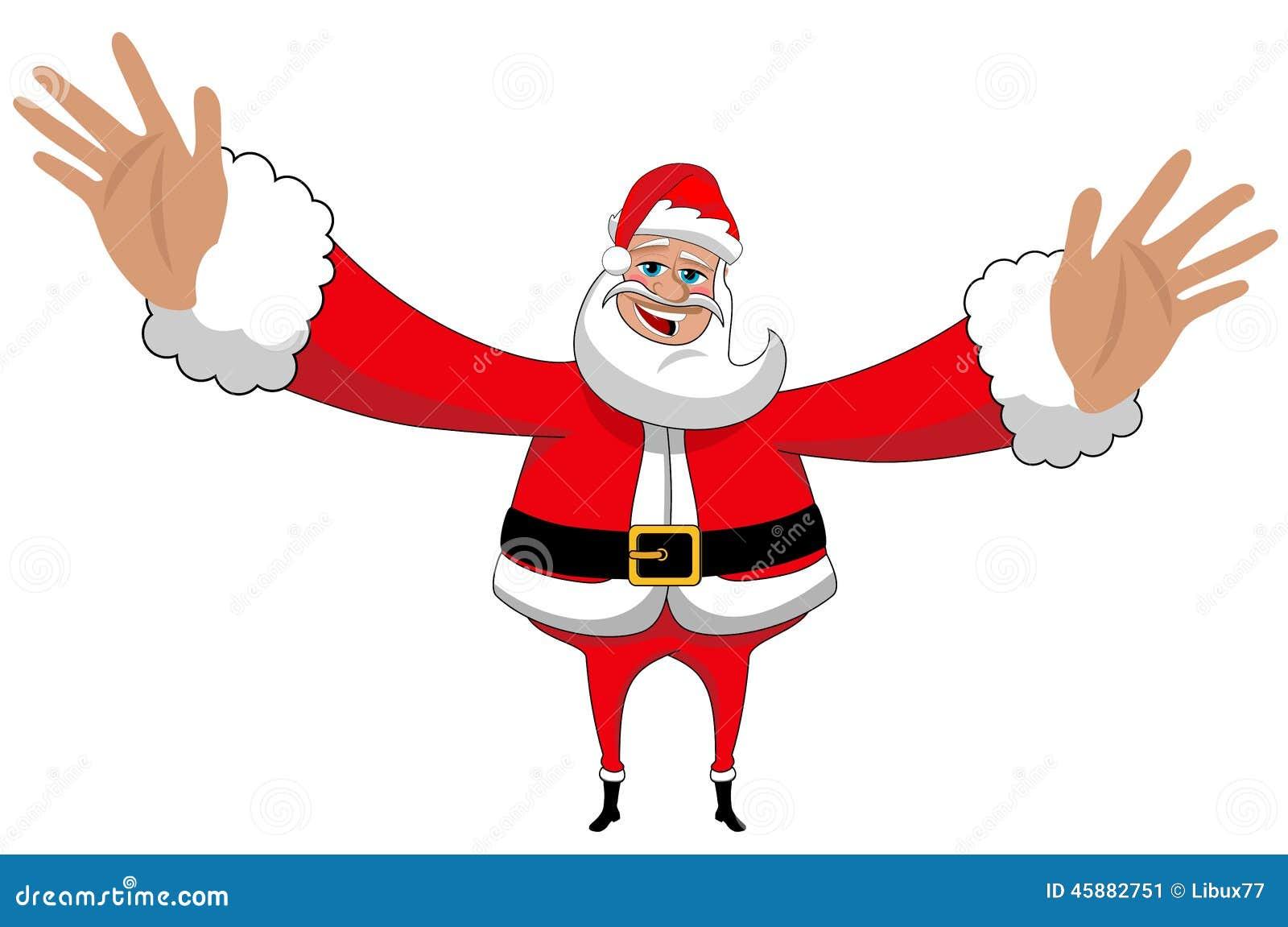 Santa Claus Happy Big Hug Love Xmas Isolated Stock Vector - Image ...