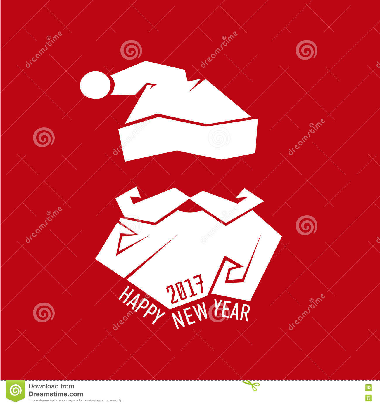 Santa claus hat and beard christmas new year card vector stock santa claus hat and beard template christmas new year greeting card santa claus vector illustration maxwellsz