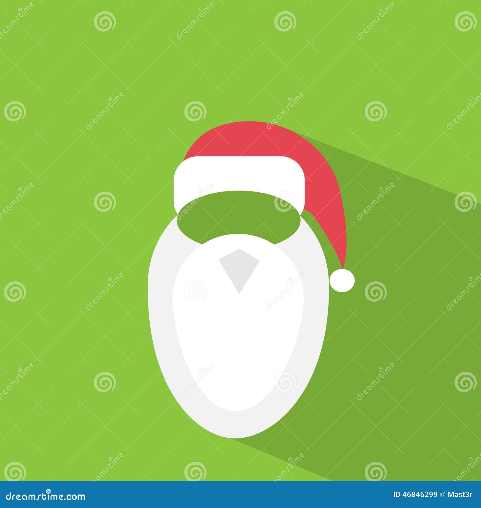 68792de207d Santa Claus Hat Beard Flat Icon Design Vector Stock Vector ...