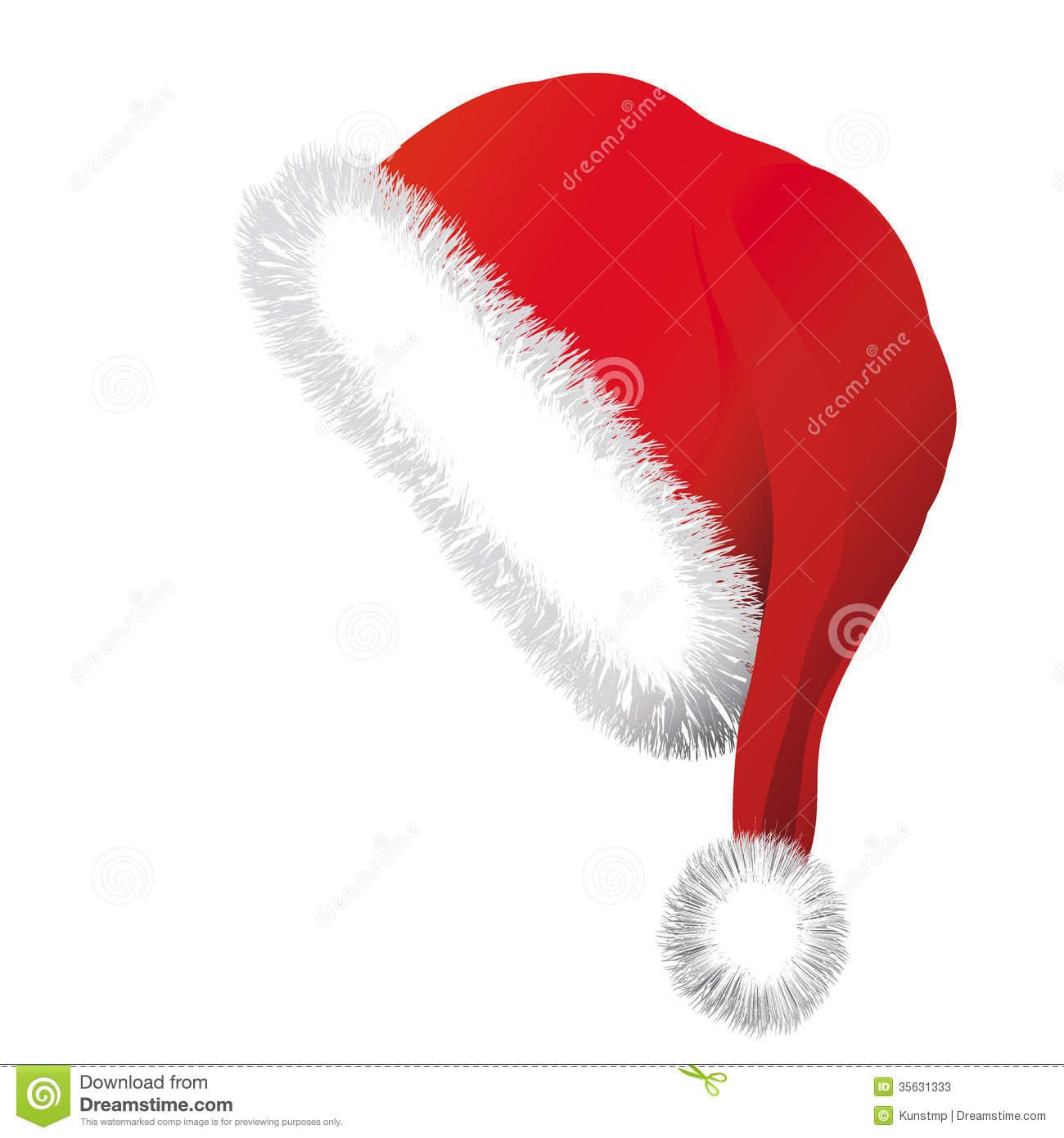 7b397cd1641c0 Santa Claus hat stock vector. Illustration of design - 35631333
