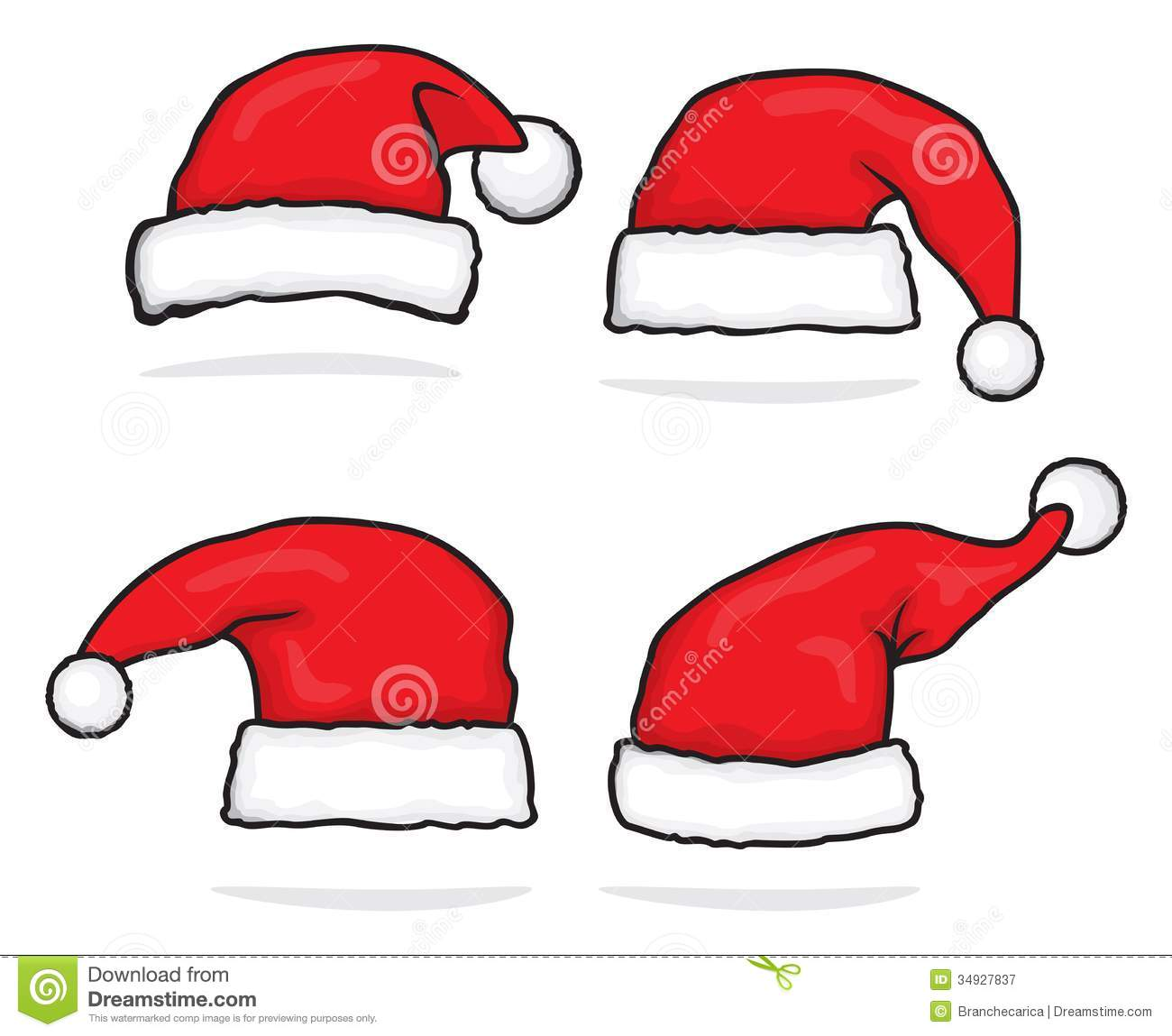 Santa Claus Hat Collection Royalty Free Stock Photography - Image ...