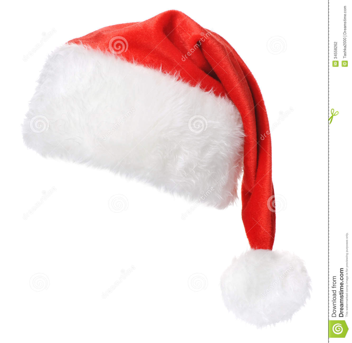 Santa Claus hat isolated on white background 7e7b32bb4ddf