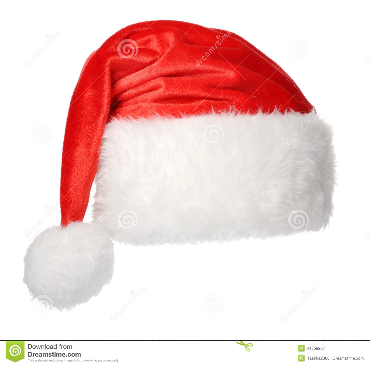 Santa hat with background search results calendar