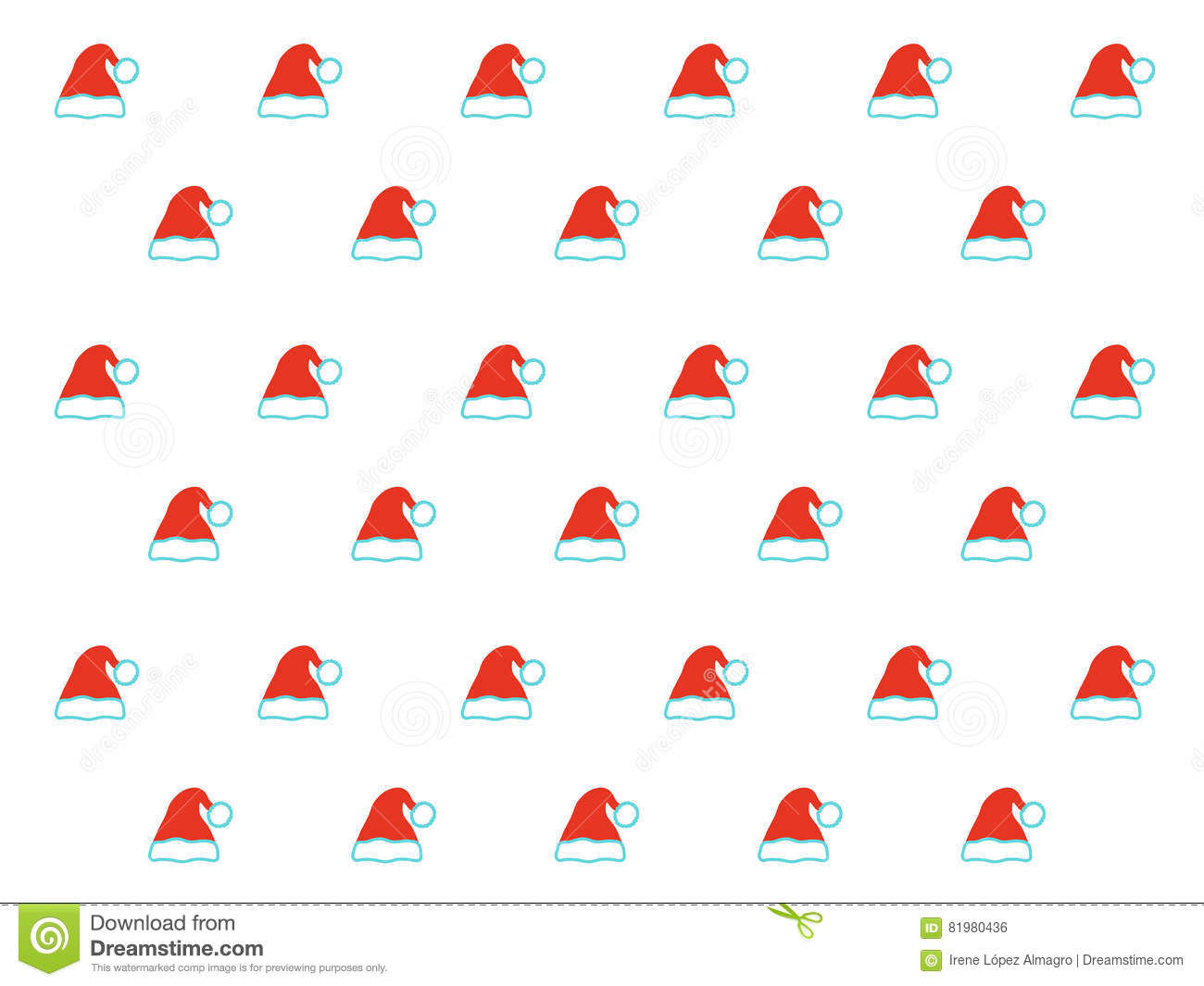 1af381cc216 Santa Claus hat pattern stock vector. Illustration of white - 81980436