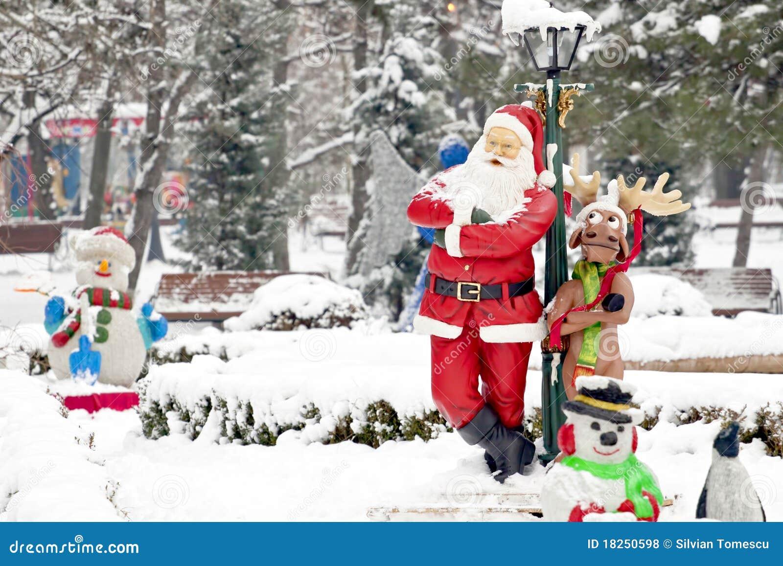 Real Santa And His Reindeer Santa claus and his reindeer