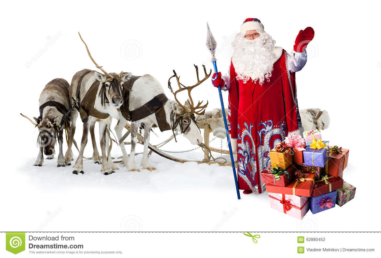 how to make santa claus with reindeer