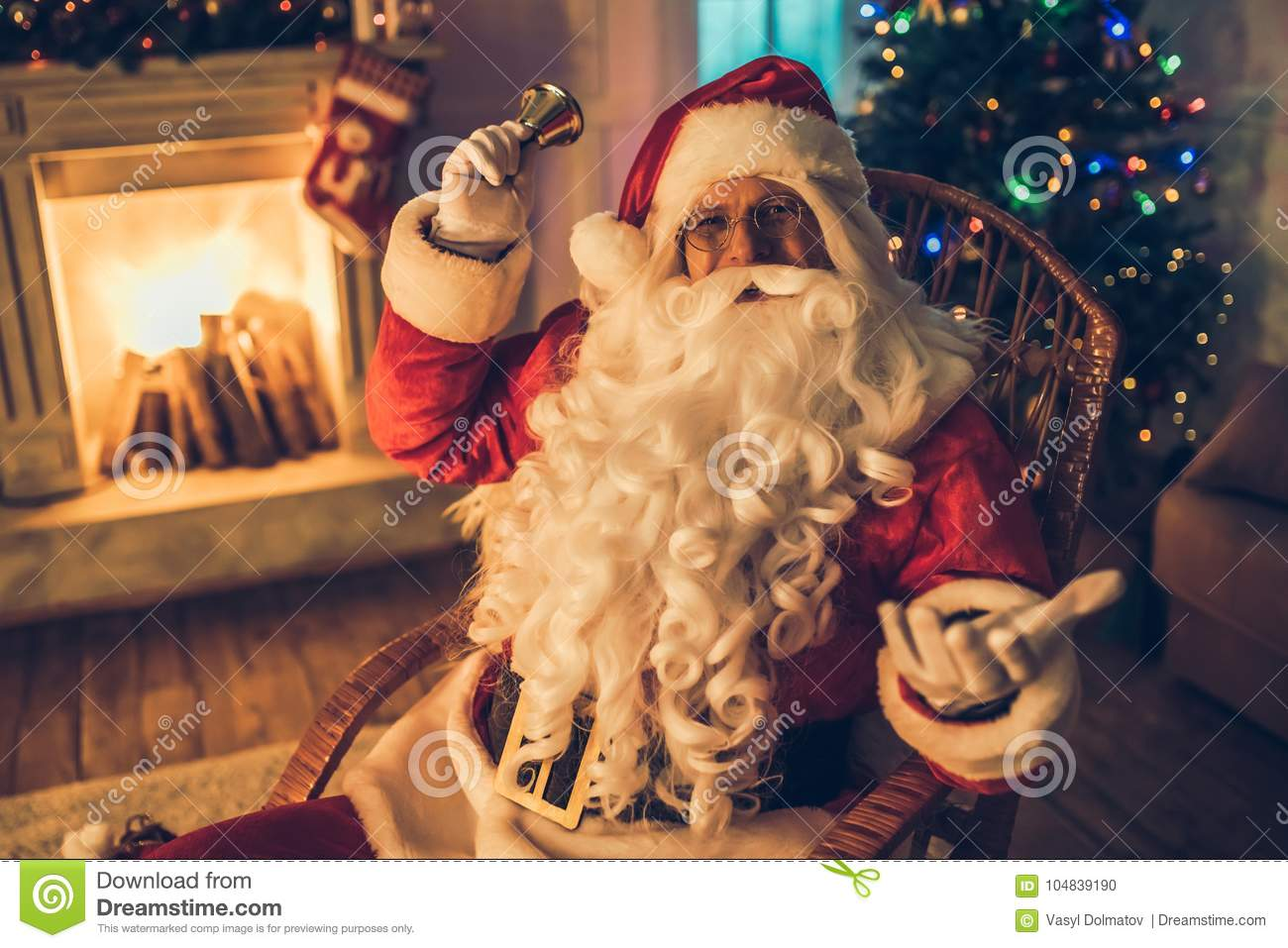Santa Claus in his residence