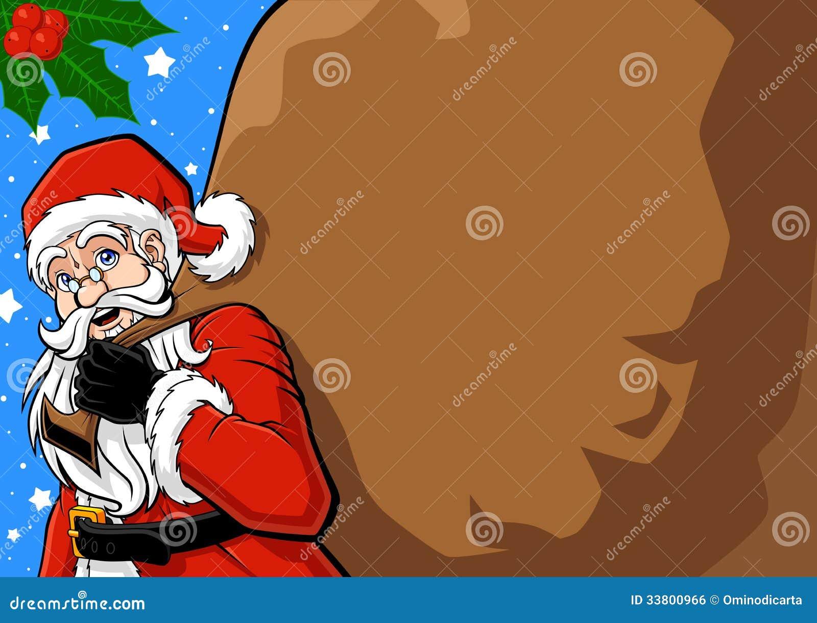 Santa Claus And His Sack Royalty Free Stock Image