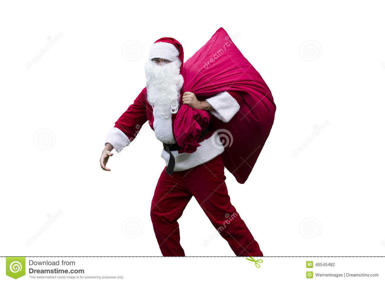 Santa Claus With His Sack Stock Photo. Image Of Costume