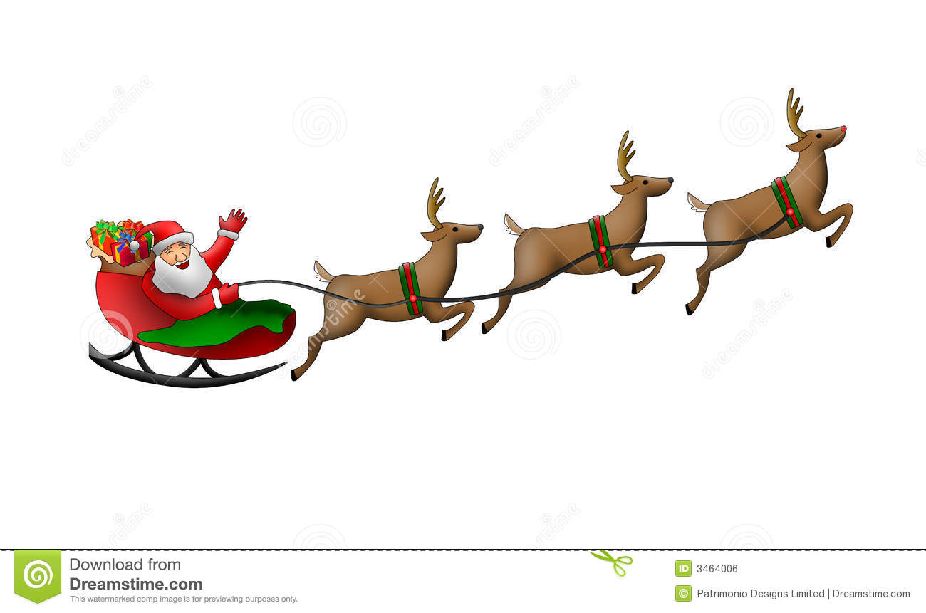 Santa Claus In His Sleigh Royalty Free Stock Image - Image: 3464006