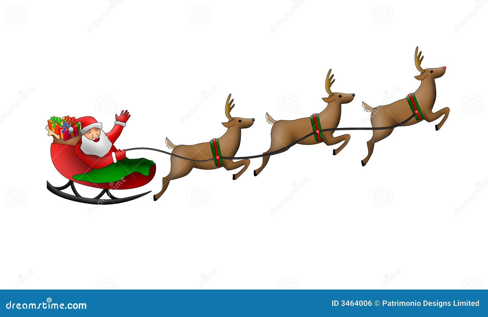 santa claus in his sleigh stock illustration illustration of