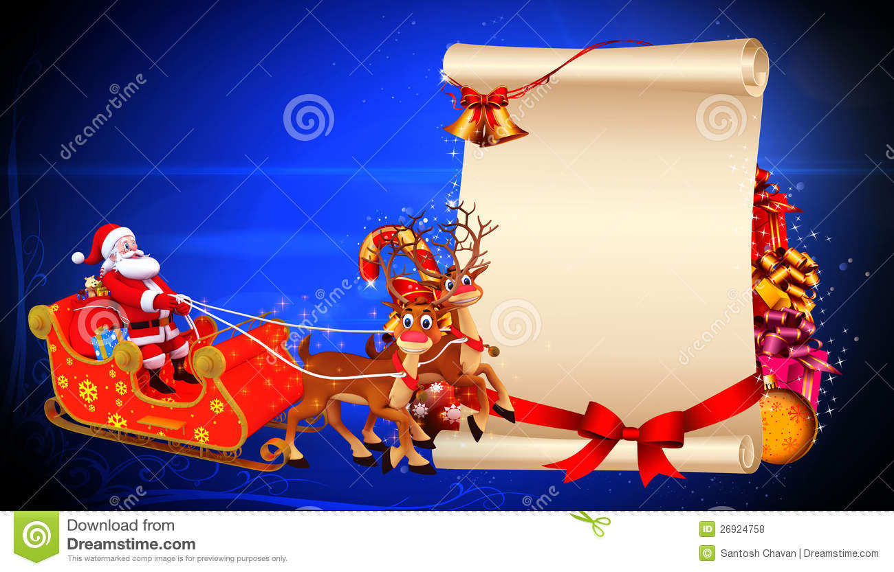 Images Of Santa Claus And His Sleigh Santa claus in his sleigh with ...