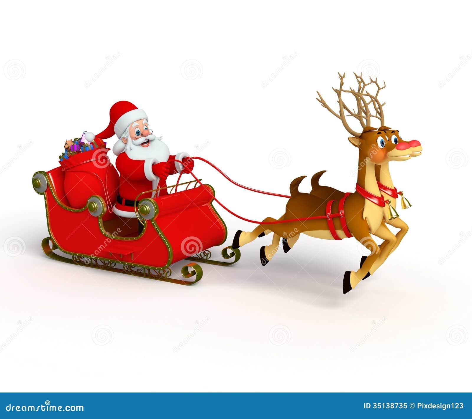 Picture of santas sleigh new calendar template site