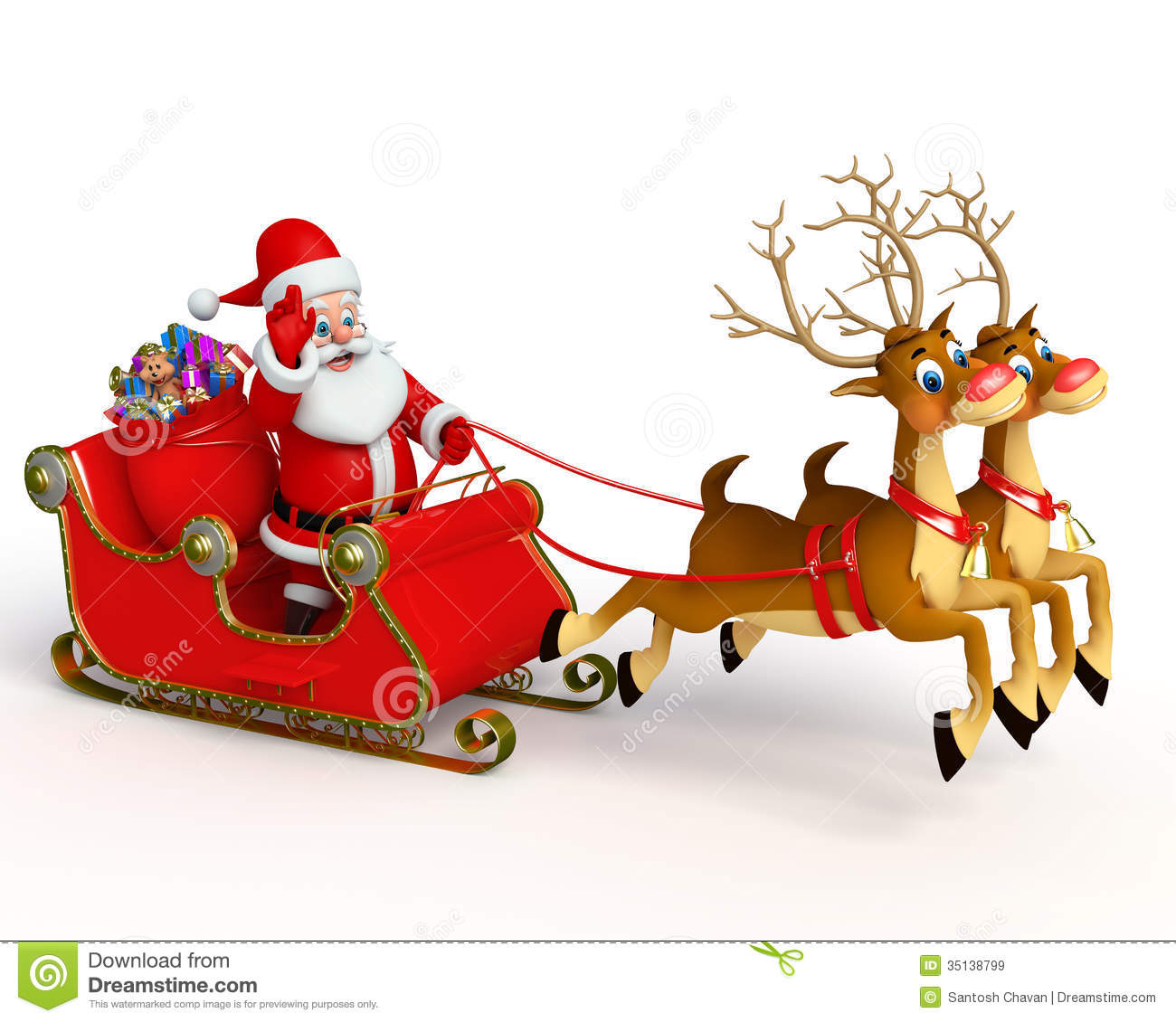 pictures of santa and his sleigh santa claus with his sleigh stock illustration image 1399