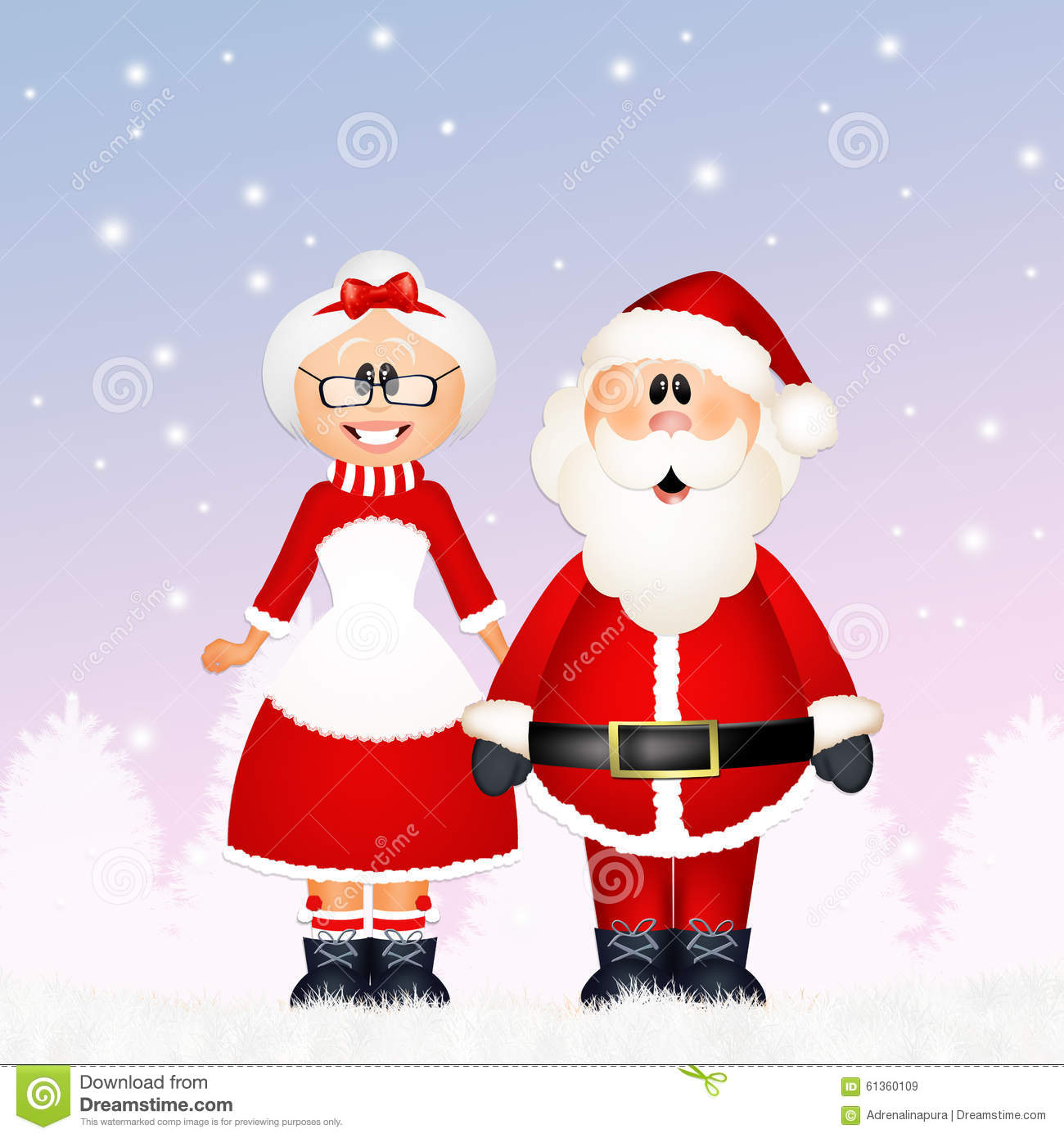 santa claus with his wife stock illustration image 61360109 couple mariage clipart married couple clip art picture