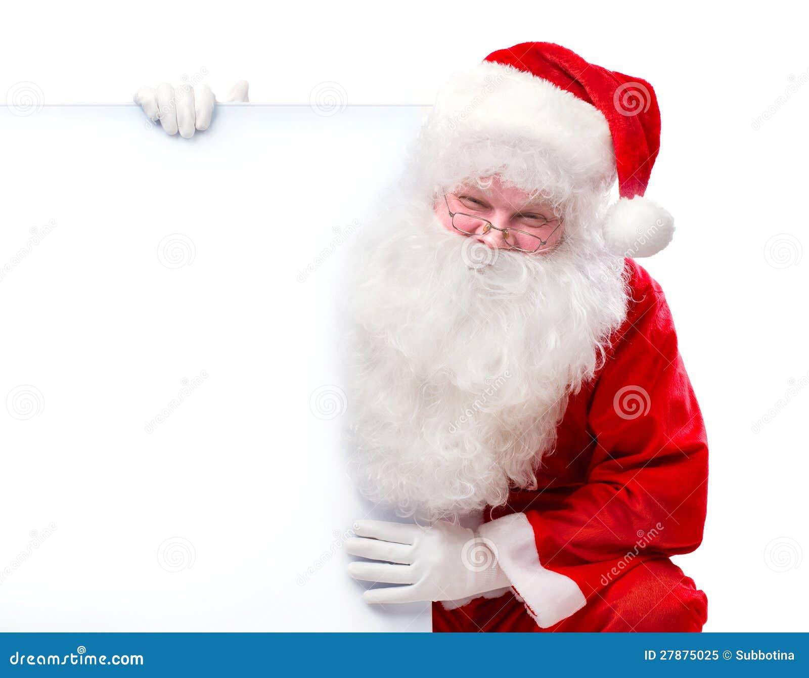Santa Claus Holding Banner Royalty Free Stock Photo - Image: 27875025