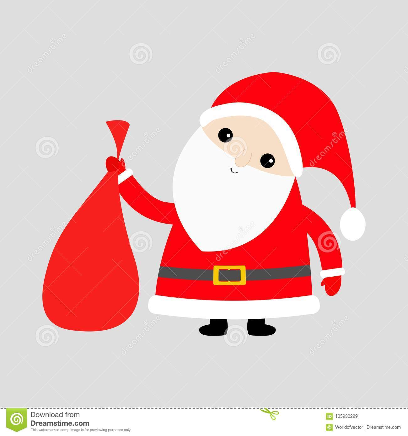 7b77c630e40c9 Royalty-Free Vector. Santa Claus holding carrying sack gift bag. Red hat