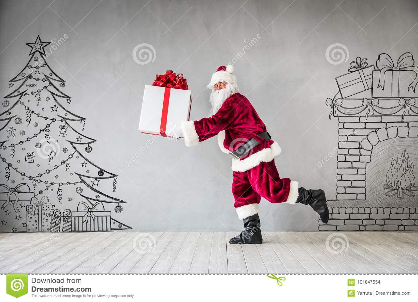 Santa Claus Christmas Xmas Holiday Concept Stock Photo - Image of ...