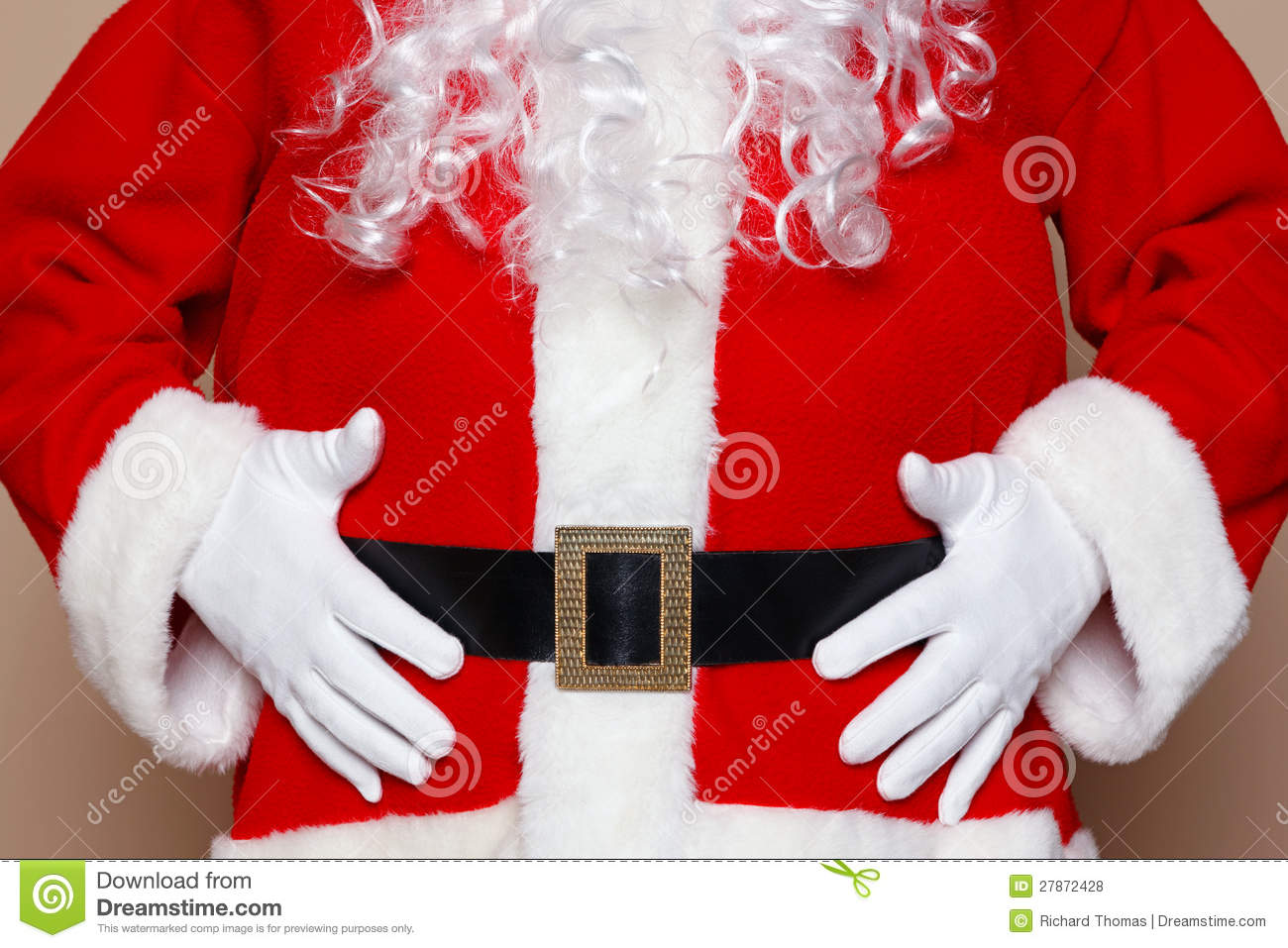 Smiffys Santa Stuffer Adult Mens Claus Belly Padding for Fat Suit ...