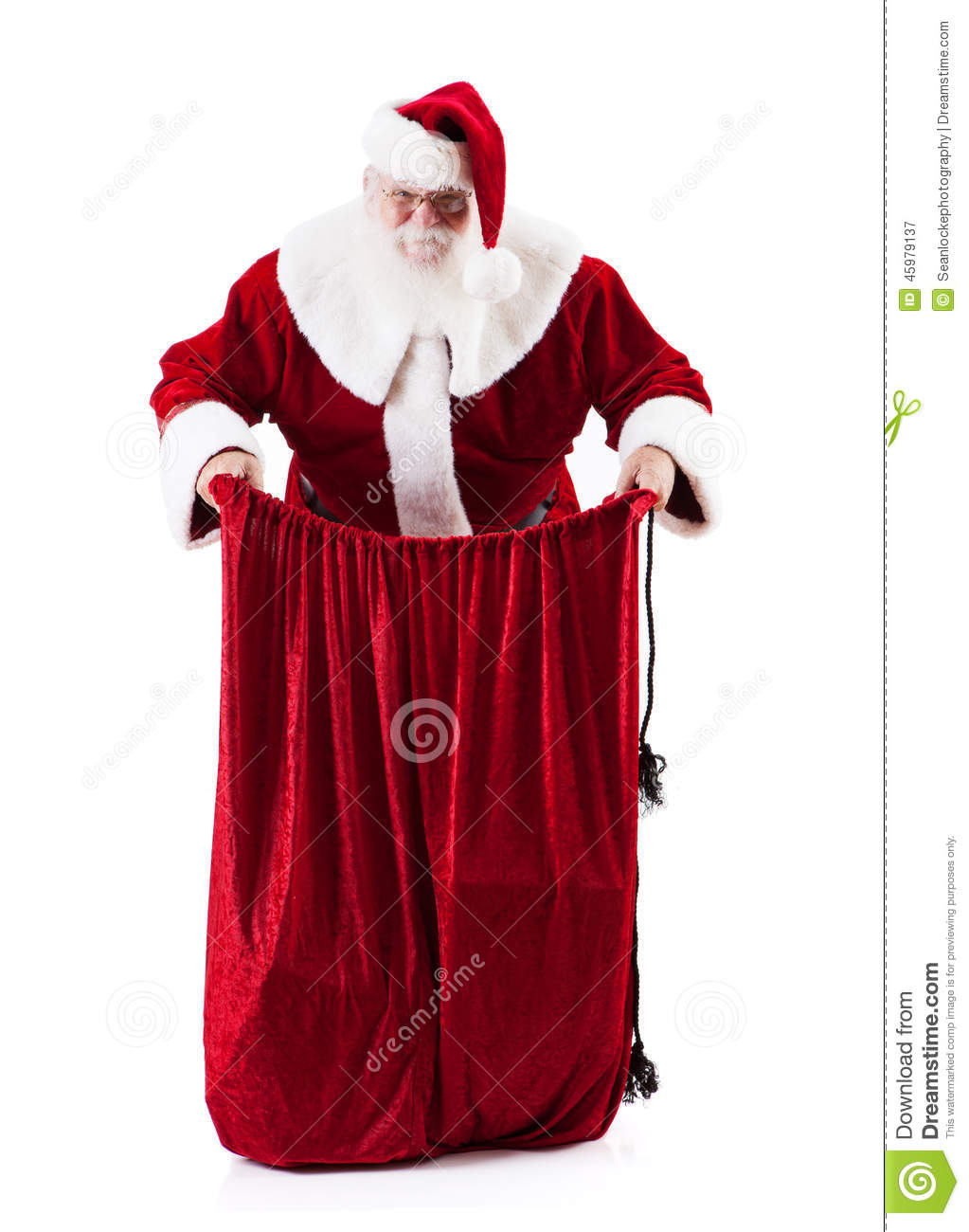 Traditional style authentic santa claus with real beard and handmade
