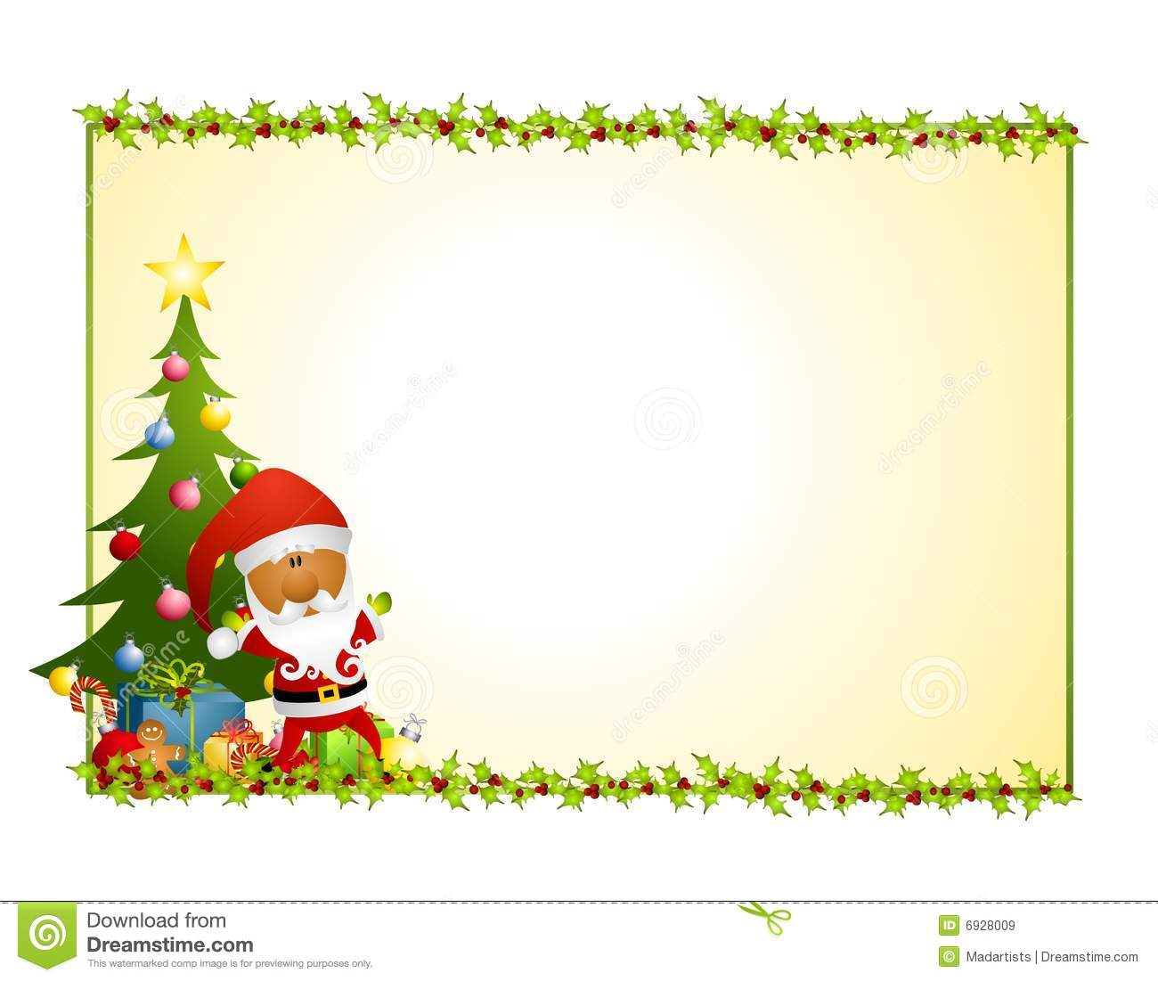 Santa Claus Holly Background 2 Royalty Free Stock Images - Image ...