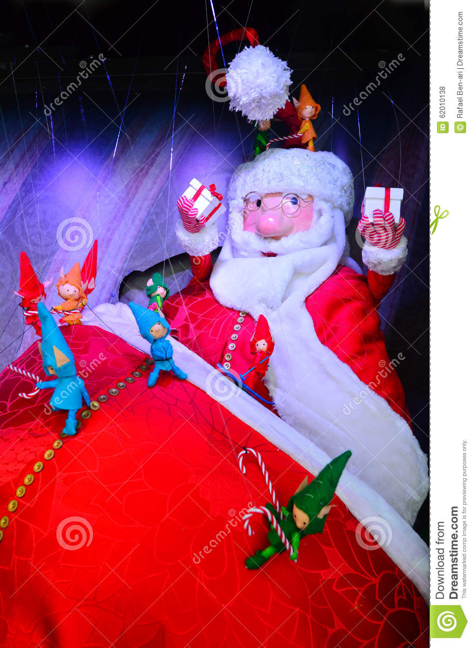 Santa claus at home on christmas holiday stock photo for At home christmas