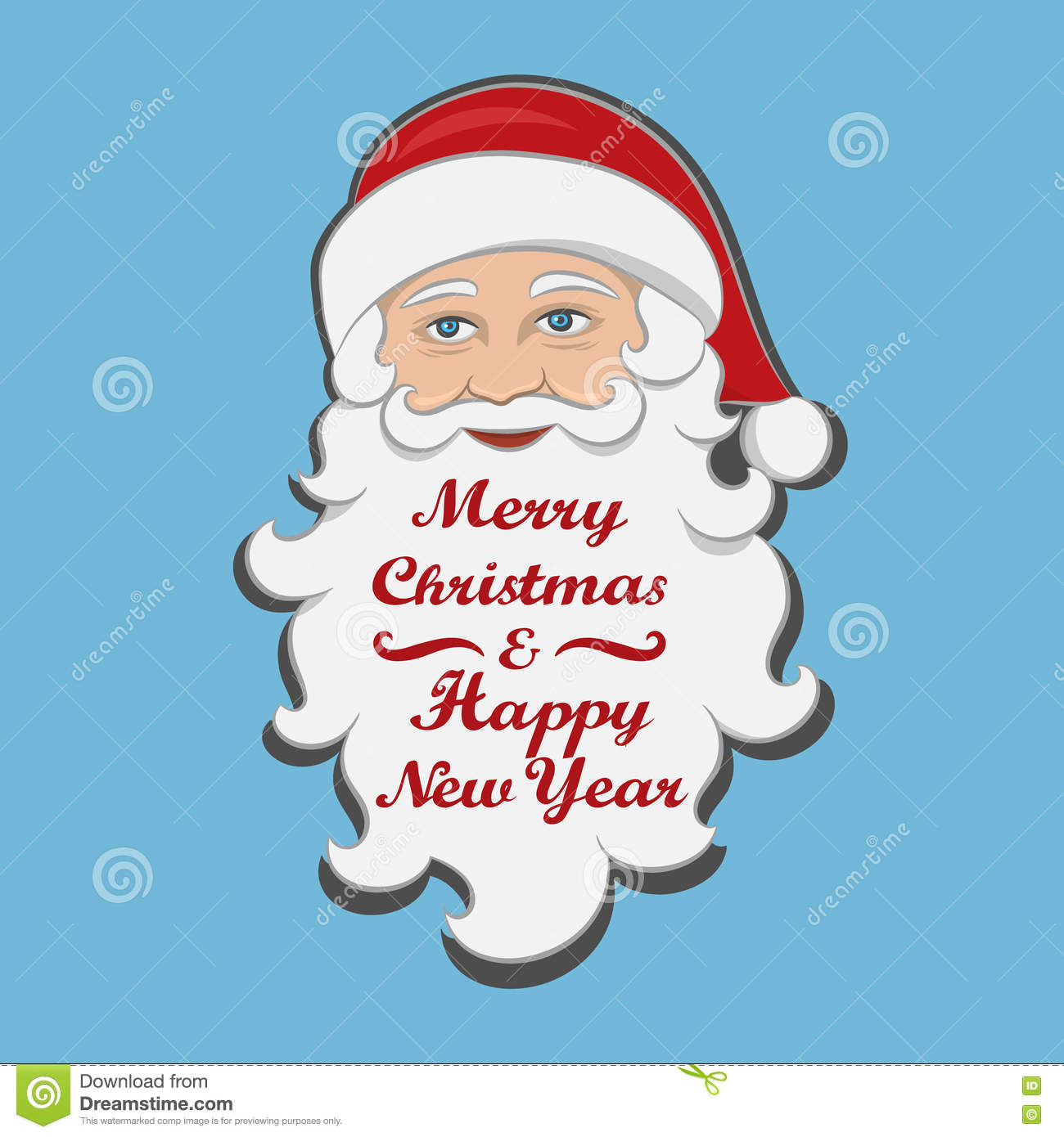 Christmas Holidays Clipart.Santa Claus Isolated Merry Christmas And Happy New Year