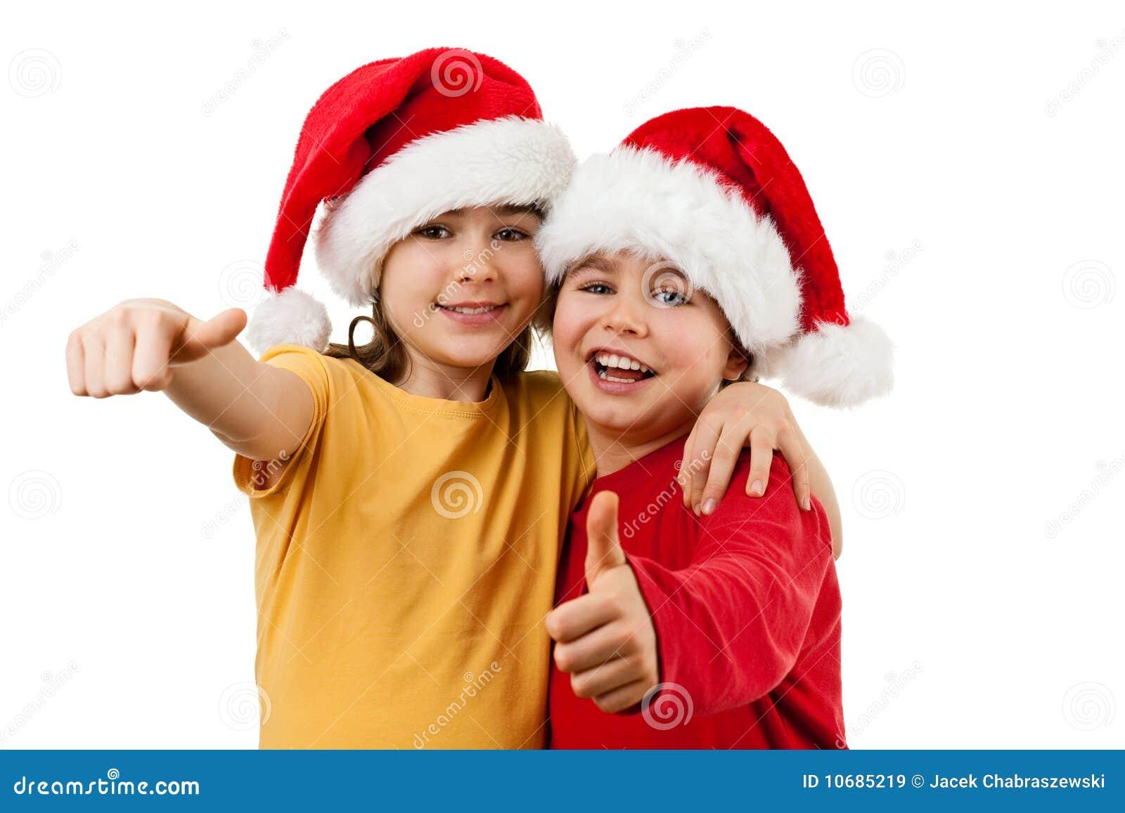 santa claus kids ok sign - Santa Claus Kids
