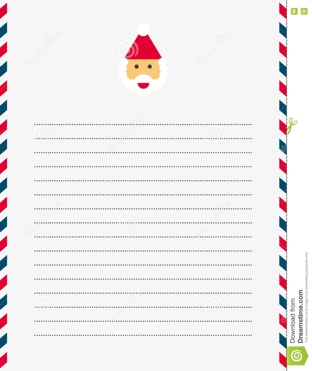 Santa claus letter template stock vector illustration of holiday santa claus letter template royalty free vector spiritdancerdesigns Images
